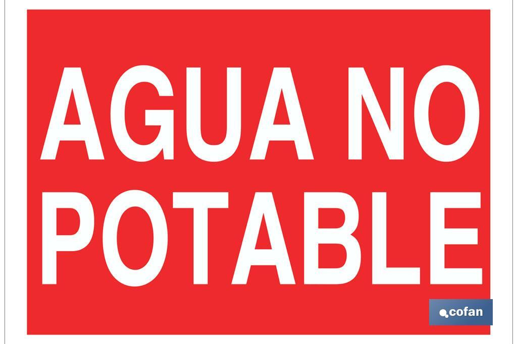 AGUA NO POTABLE