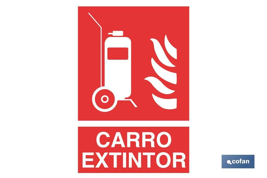 CARRO EXTINTOR PICTOGRAMA + TEXTO