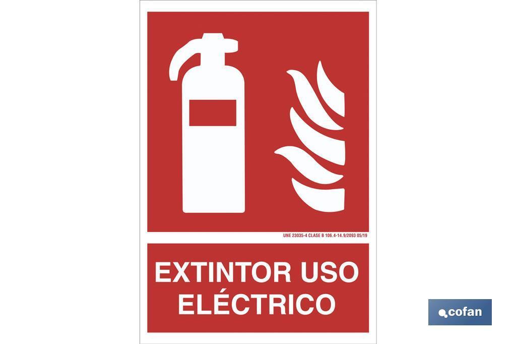 EXTINTOR USO ELÉCTRICO