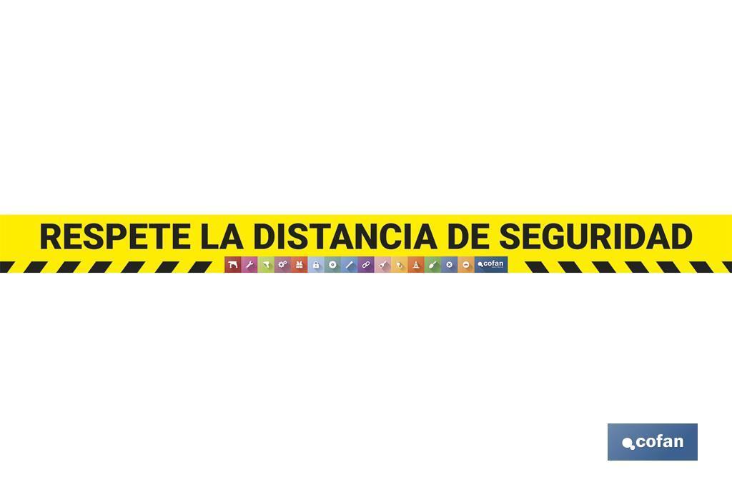 """VINILO DE SUELO """"RESPETE LA DISTANCIA DE SEGURIDAD"""""""