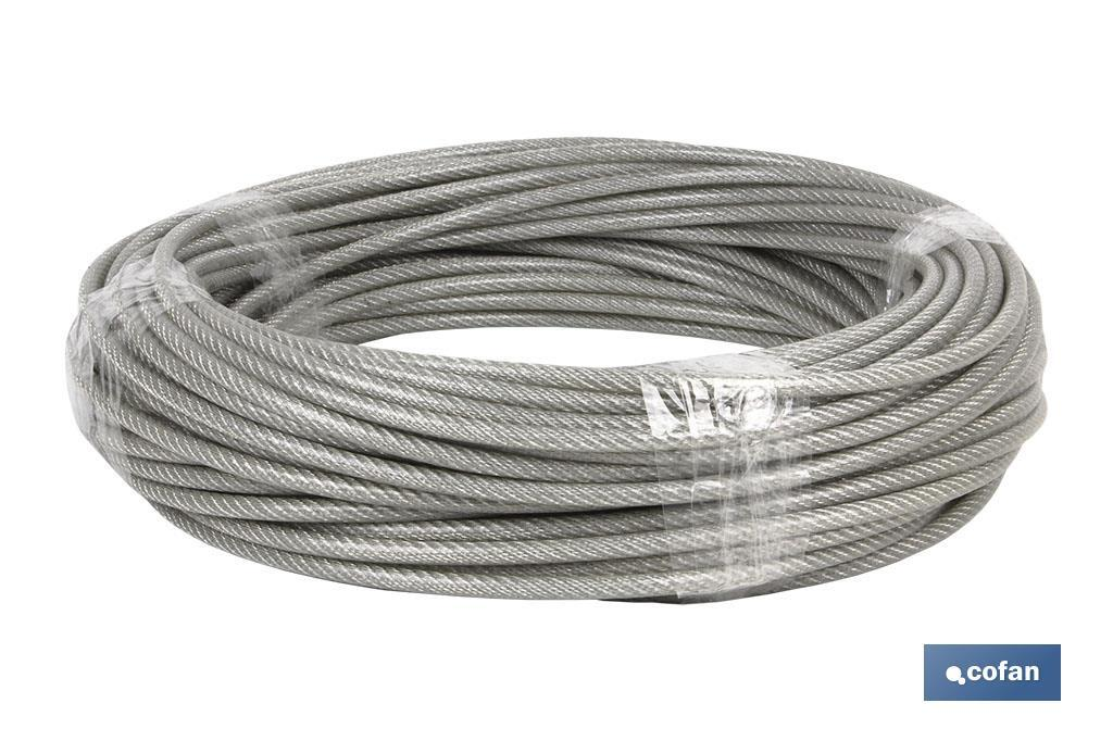 "CABLE ACERO ""PLASTIFICADO"""