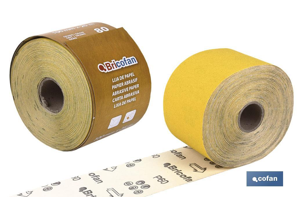 "ROLLO LIJA PAPEL ""AMARILLO"""