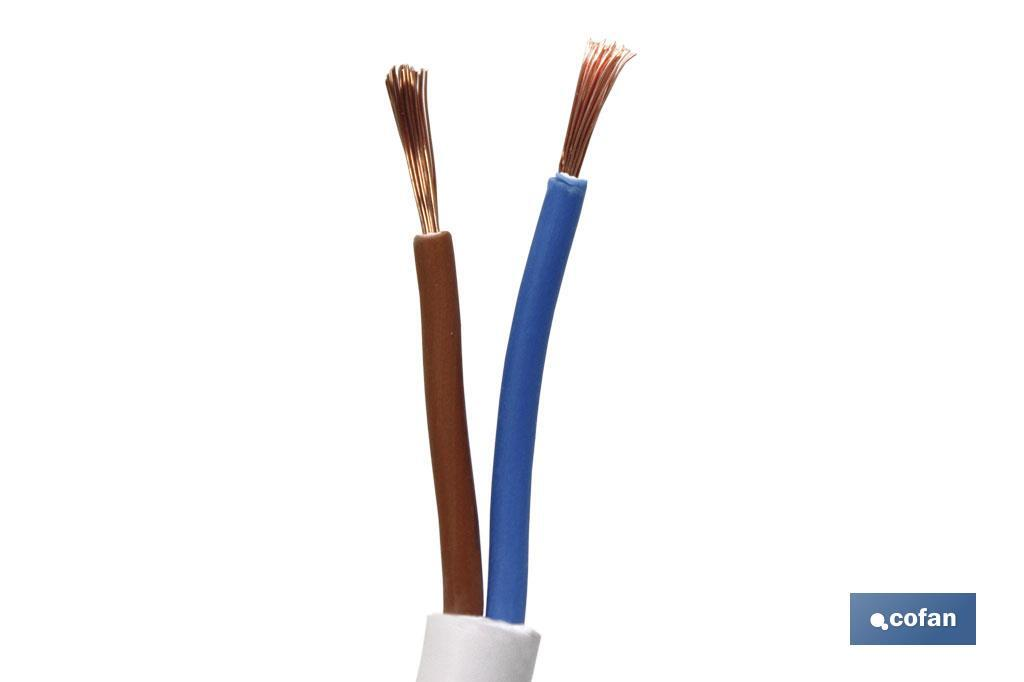 MANGUERA CABLE H05VV-F (2X1MM)