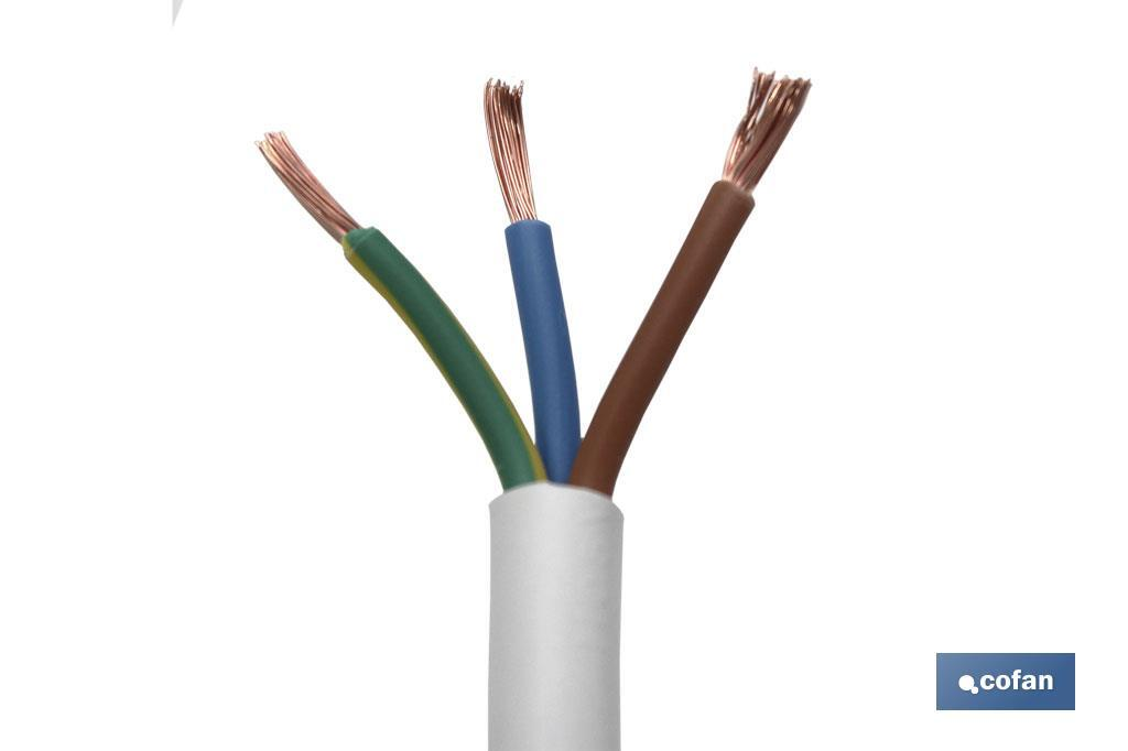 MANGUERA CABLE H05VV-F (3X1MM)