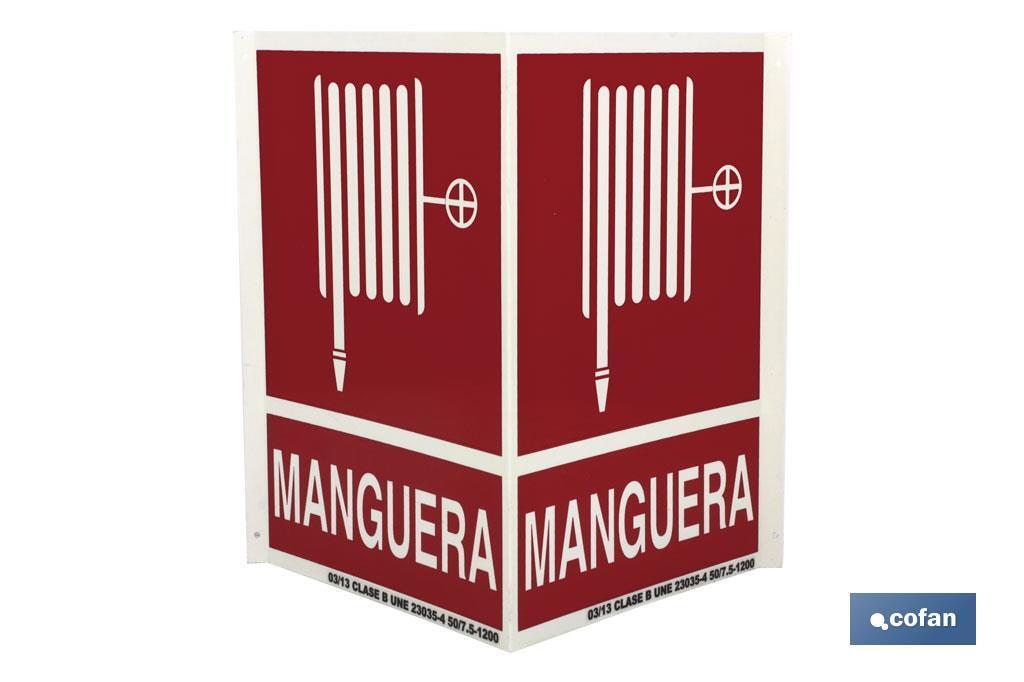 """SEÑAL PANORÁMICA """"MANGUERA INCENDIOS"""""""