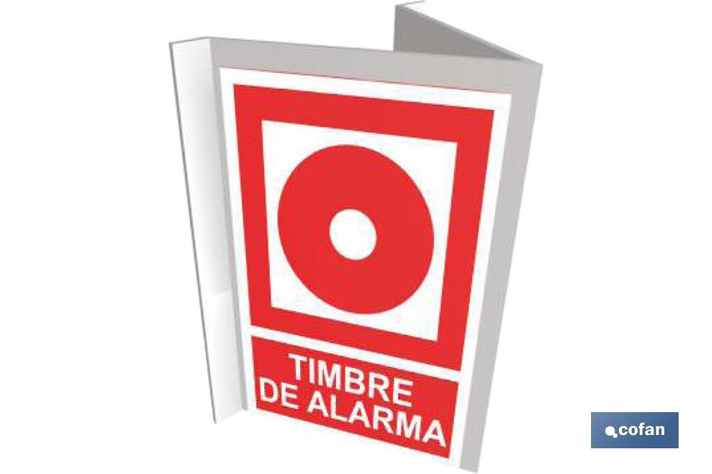 """SEÑAL PANORÁMICA """"TIMBRE ALARMA"""" + TEXTO"""