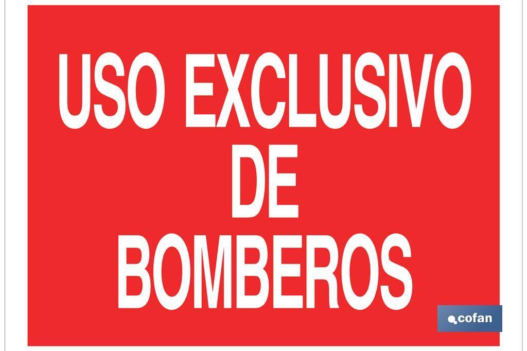 USO EXCLUSIVO BOMBEROS